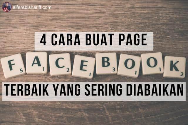 4 Cara Buat Page FB Terbaik Yang Sering Diabaikan