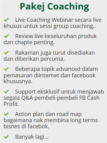 pakej coaching fb cash profit