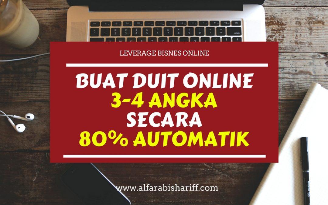 Bagaimana Saya Leverage Bisnes Online Saya Dan Buat Duit 3-4 Angka Secara 80% Automatik